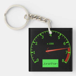 Customizable name gearhead car Fan Keychain
