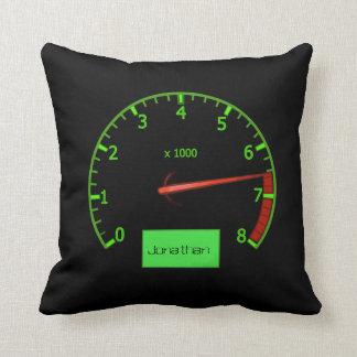 Customizable name gearhead car Fan Throw Pillow