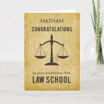 Customizable Name, Law School Graduation Congratul Card