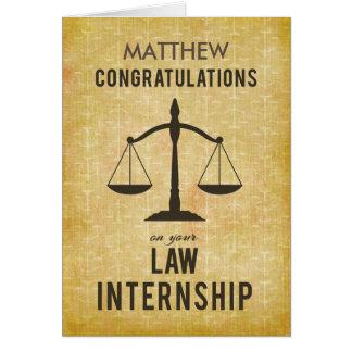 Customizable Name Law School Internship Congratula Card