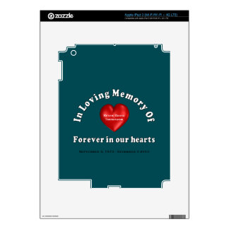 Customizable Name Memorial iPad Device Skins iPad 3 Skin
