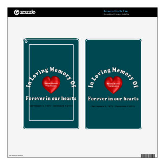 Customizable Name Memorial Kindle Device Skins Decals For Kindle Fire