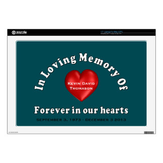 Customizable Name Memorial Laptop Skins