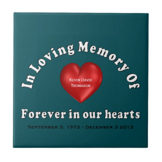 Customizable Name Memorial Products Loving Memory Small Square Tile