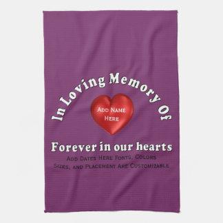 Customizable Name Memorial Products Loving Memory Towels