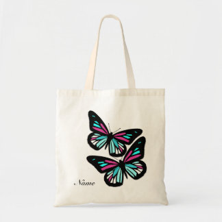 Customizable Name/Monogram Butterfly Tote Bag