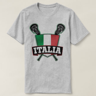 Customizable Name & Number Italy Lacrosse T-Shirt