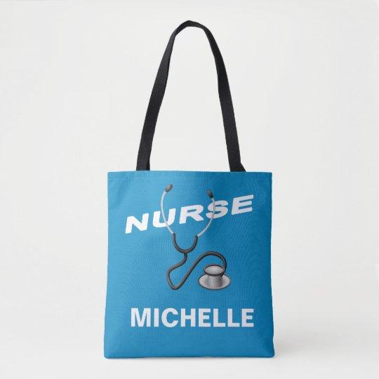 Customizable Name Nurse Tote Bag Zazzle Com
