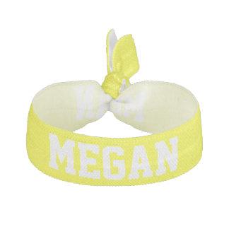 Customizable Name School Spirit Design Yellow Hair Tie