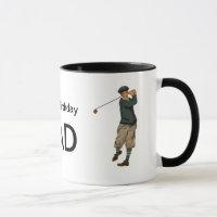 Customizable name Vintage look Golfer Golf  Mug