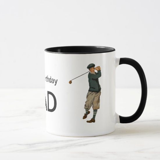 Customizable name Vintage look Golfer Golf  Mug