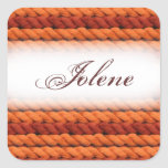 Customizable name yarn craft stickers