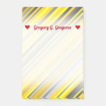 [ Thumbnail: Customizable Name + Yellow & Gray Stripes Pattern Notes ]