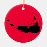 Customizable Nantucket Christmas Ornament