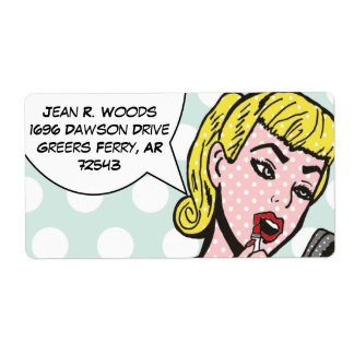 Customizable Natural Beauty Comic Book Labels