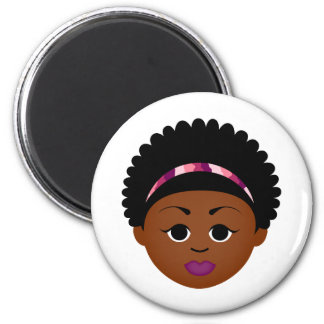 Customizable Natural Hair Gifts! 2 Inch Round Magnet
