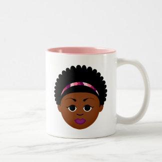Customizable Natural Hair Gifts! Two-Tone Coffee Mug