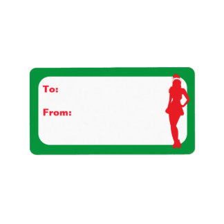 Customizable Naughty Xmas Elf Label
