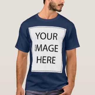 Customizable Navy Blue Large Basic Mens T-shirt
