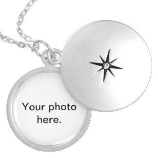 Customizable necklaces. Add your chosen photo. Round Locket Necklace