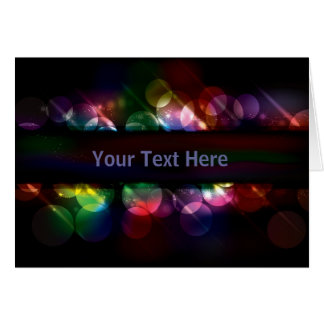 Customizable neon circle light effect background card
