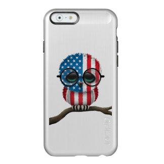 Customizable Nerdy American Baby Owl Chic Incipio Feather® Shine iPhone 6 Case