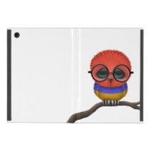 Customizable Nerdy Armenian Baby Owl Chic Cover For iPad Mini