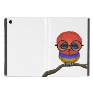 Customizable Nerdy Armenian Baby Owl Chic iPad Mini Case