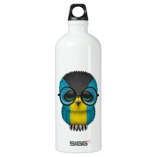 Customizable Nerdy Bahamas Baby Owl Chic Water Bottle