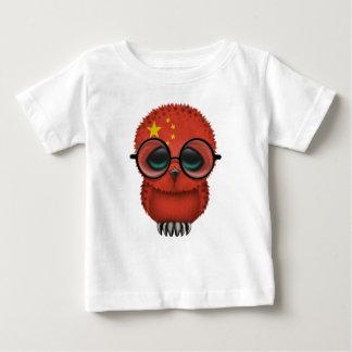 Customizable Nerdy Chinese Baby Owl Chic Tee Shirt