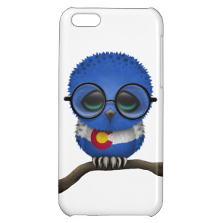Customizable Nerdy Colorado Baby Owl Chic iPhone 5C Cases