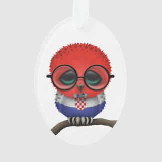 Customizable Nerdy Croatian Baby Owl Chic