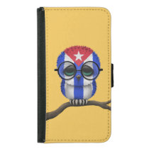 Customizable Nerdy Cuban Baby Owl Chic Wallet Phone Case For Samsung Galaxy S5