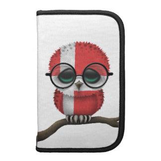 Customizable Nerdy Danish Baby Owl Chic Folio Planners
