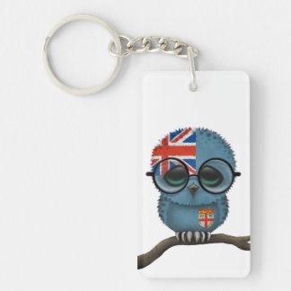 Customizable Nerdy Fiji Baby Owl Chic Acrylic Key Chains