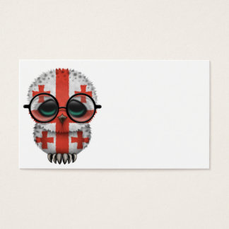 Customizable Nerdy Georgian Baby Owl Chic Business Card
