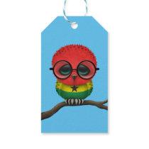 Customizable Nerdy Ghana Baby Owl Chic Gift Tags