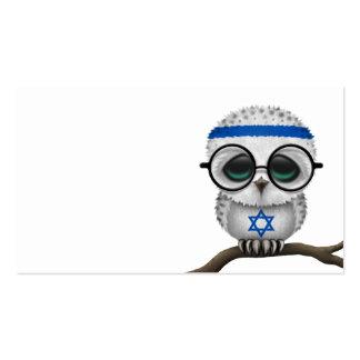Customizable Nerdy Israeli Baby Owl Chic Business Card