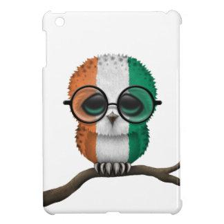 Customizable Nerdy Ivory Coast Baby Owl Chic iPad Mini Cover