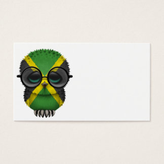 Customizable Nerdy Jamaican Baby Owl Chic Business Card