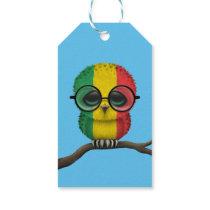 Customizable Nerdy Mali Baby Owl Chic Gift Tags