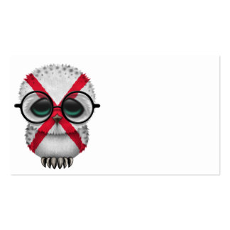 Customizable Nerdy Northern Ireland Baby Owl Chic Business Card