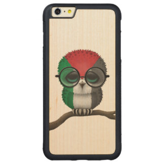 Customizable Nerdy Palestinian Baby Owl Chic Carved® Maple iPhone 6 Plus Bumper Case