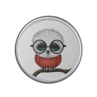 Customizable Nerdy Polish Baby Owl Chic Speaker