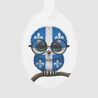 Customizable Nerdy Quebec Baby Owl Chic