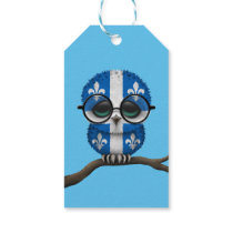 Customizable Nerdy Quebec Baby Owl Chic Gift Tags