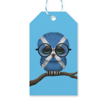 Customizable Nerdy Scottish Baby Owl Chic Gift Tags