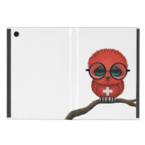 Customizable Nerdy Swiss Baby Owl Chic Case For iPad Mini