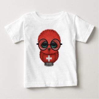 Customizable Nerdy Swiss Baby Owl Chic T Shirt
