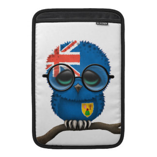 Customizable Nerdy Turks and Caicos Baby Owl Chic MacBook Sleeve